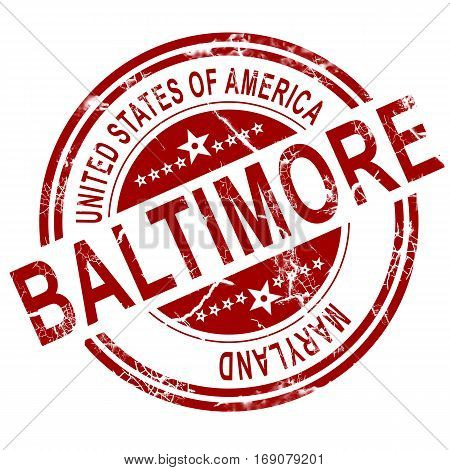 Baltimore Stamp With White Background
