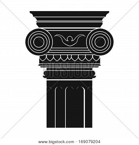 Column icon in monochrome design isolated on white background. Architect symbol stock vector illustration.