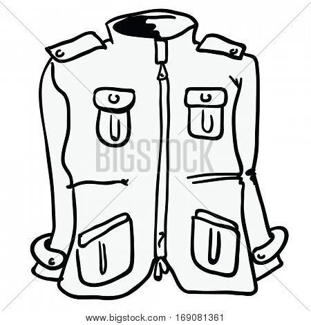 winter jacket cartoon illustration