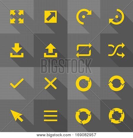 Vector Flat Icon Set - Arrows Illustration