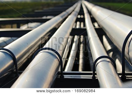 silver pipeline system in crude oil factory