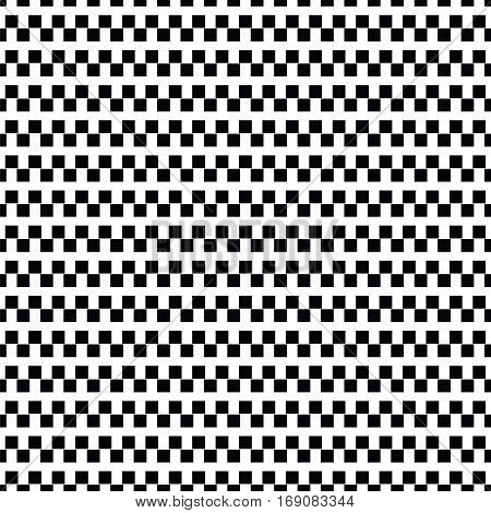 Geometric Line Monochrome Abstract Seamless Pattern With Rectangle