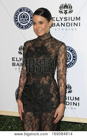 LOS ANGELES - JAN 7:  Emmanuelle Chriqui at the Art of Elysium 10th Annual Black Tie Heaven Gala at Red Studios on January 7, 2017 in Los Angeles, CA