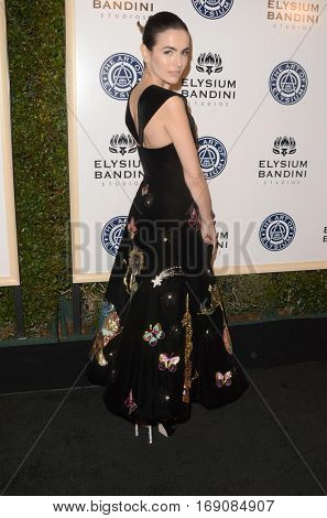 LOS ANGELES - JAN 7:  Camilla Belle at the Art of Elysium 10th Annual Black Tie Heaven Gala at Red Studios on January 7, 2017 in Los Angeles, CA