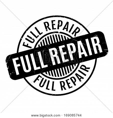Full Repair rubber stamp. Grunge design with dust scratches. Effects can be easily removed for a clean, crisp look. Color is easily changed.