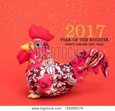 Tradition Chinese knot: Cloth doll Rooster