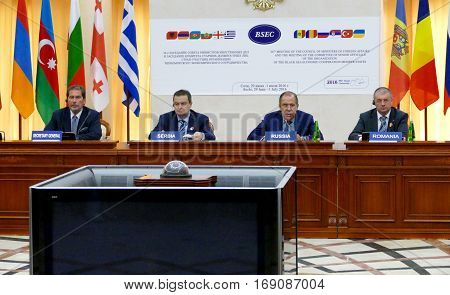 Sochi, Russia. July 1St 2016 - Session Of Bsec Council Of Foreign Ministers In Sochi