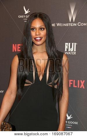 LOS ANGELES - JAN 8:  Laverne Cox at the Weinstein And Netflix Golden Globes After Party at Beverly Hilton Hotel Adjacent on January 8, 2017 in Beverly Hills, CA
