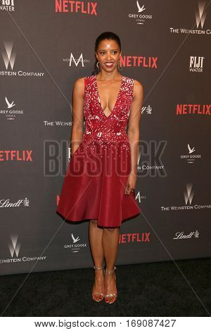 LOS ANGELES - JAN 8:  Renee Elise Goldsberry at the Weinstein And Netflix Golden Globes After Party at Beverly Hilton Hotel Adjacent on January 8, 2017 in Beverly Hills, CA