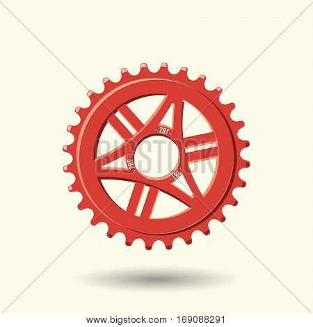Bike gear isolated on white background, vector