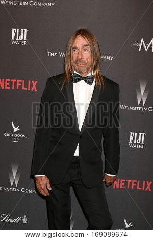 LOS ANGELES - JAN 8:  Iggy Pop, James Newell Osterberg, Jr at the Weinstein And Netflix Golden Globes After Party at Beverly Hilton Hotel Adjacent on January 8, 2017 in Beverly Hills, CA