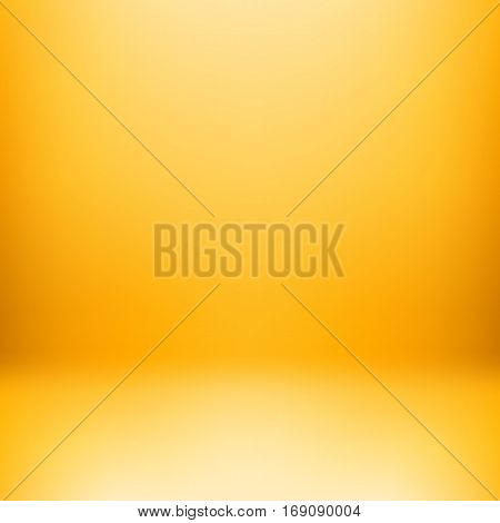 Yellow studio background or backdrop with empty space