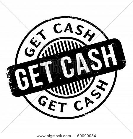 Get Cash rubber stamp. Grunge design with dust scratches. Effects can be easily removed for a clean, crisp look. Color is easily changed.