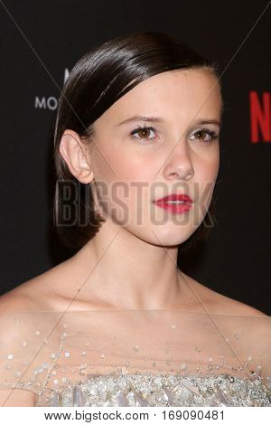 LOS ANGELES - JAN 8:  Millie Bobby Brown at the Weinstein And Netflix Golden Globes After Party at Beverly Hilton Hotel Adjacent on January 8, 2017 in Beverly Hills, CA