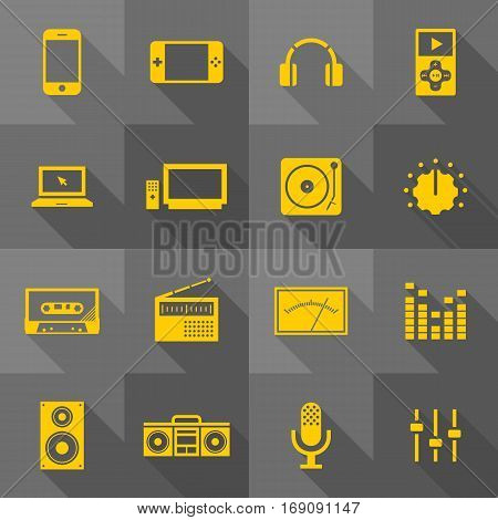Vector Flat Icon Set - Gadget Icons