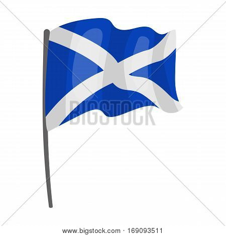 Flag of Scotland icon in cartoon design isolated on white background. Scotland country symbol stock vector illustration.