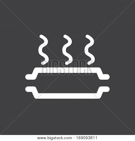 Vector illustration of a sign on the car dashboard on a gray background. The icon indicates overheating of catalyst.