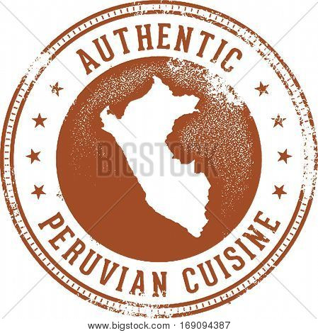Authentic Peruvian Food Menu Stamp