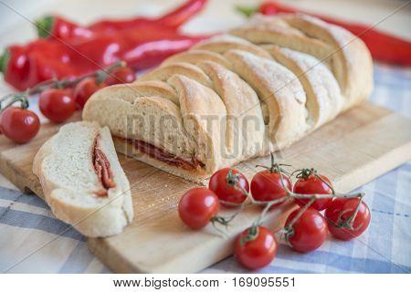stromboli - home made italian pizza bread