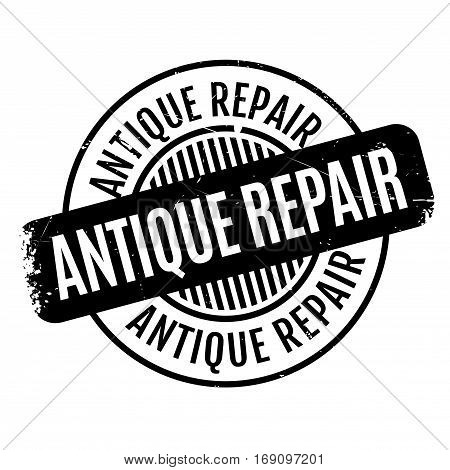 Antique Repair rubber stamp. Grunge design with dust scratches. Effects can be easily removed for a clean, crisp look. Color is easily changed.