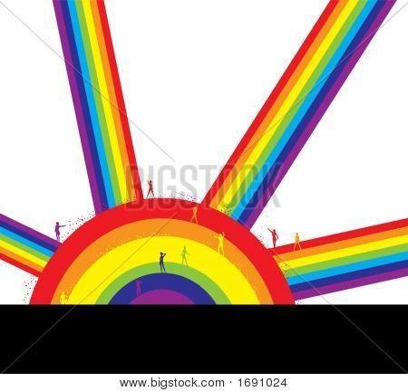 People On A Rainbow