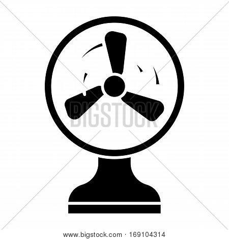 simple flat black electric fan icon vector