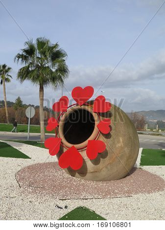 Roundabout Valentines Hearts