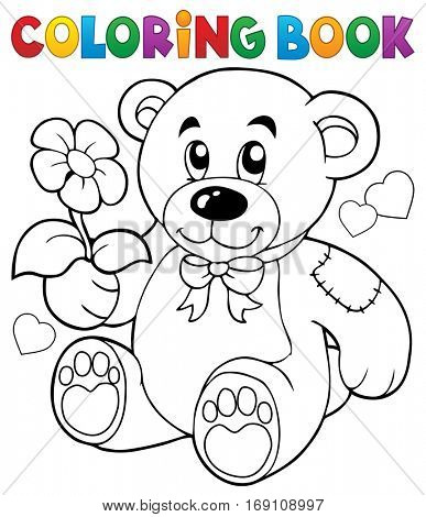 Coloring book Valentine theme 8 - eps10 vector illustration.