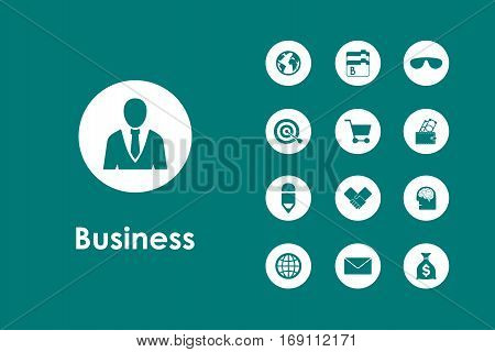 It is a set of business simple web icons