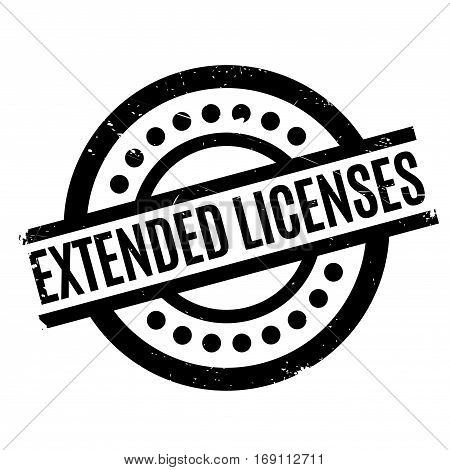 Extended Licenses rubber stamp. Grunge design with dust scratches. Effects can be easily removed for a clean, crisp look. Color is easily changed.