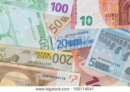 euro bills back side 5 10 20 50 100