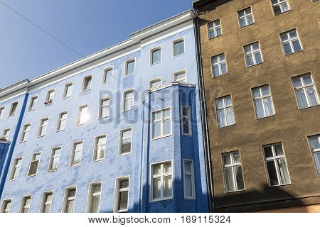 Facade Of Old Houses In Berlin Kreuzberg
