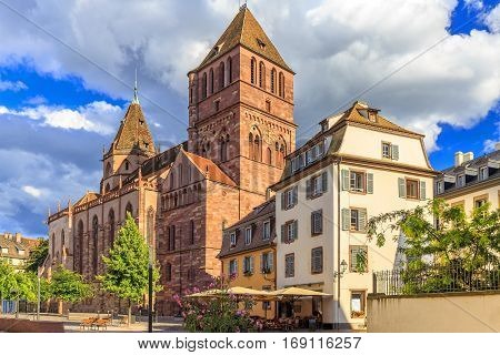St. Thomas One Of The Biggest Churches In Strasbourg.