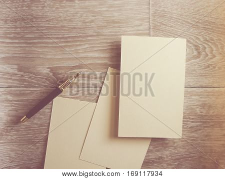 Square Flyer. Letterheads template. Changeable background isolated. Flat lay. Flat design.