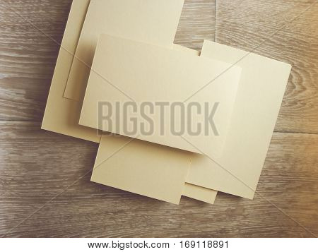 Letterheads template. Changeable background isolated. Flat lay. Flat design.
