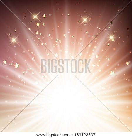 Abstract background with starburst design