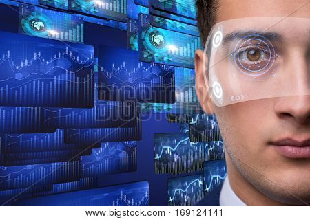 Businessman in future trading concept