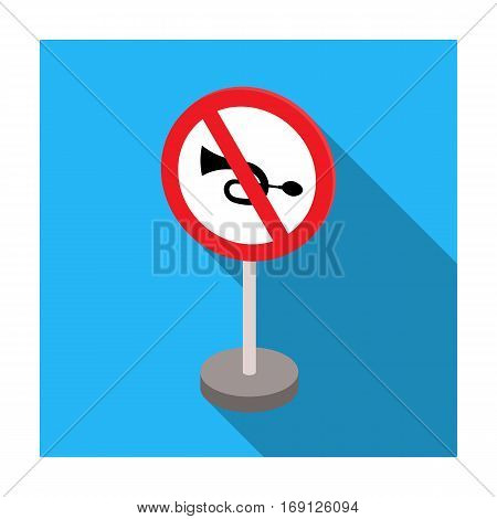 Prohibitory road sign icon in flat design isolated on white background. Road signs symbol stock vector illustration.