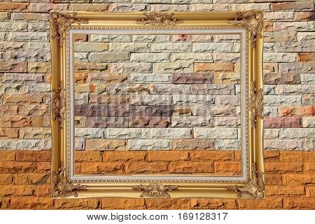 Pattern of colorful Modern Brick Wall texture
