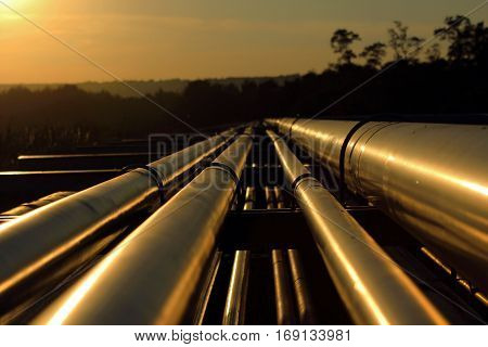 golden pipeline connection from crude oil field