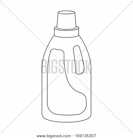 Laundry detergent icon in outline design isolated on white background. Cleaning symbol stock vector illustration.