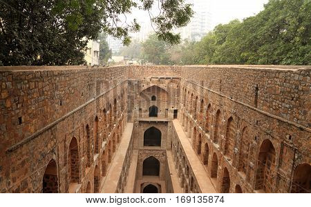 Agrasen ki Baoli (Step Well) Ancient Construction New Delhi India