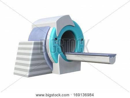 3D Rendering Mri Scanner On White