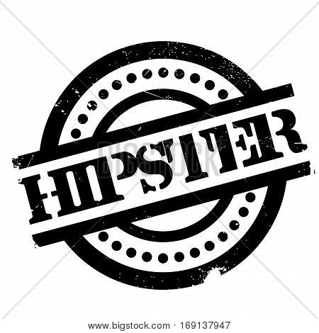 Hipster rubber stamp. Grunge design with dust scratches. Effects can be easily removed for a clean, crisp look. Color is easily changed.