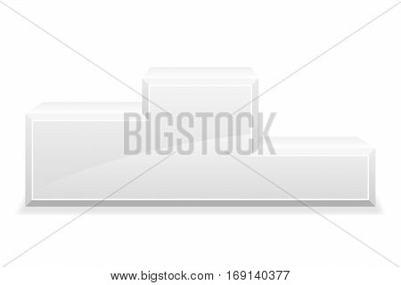 sport winner podium pedestal stock vector illustration isolated on white background