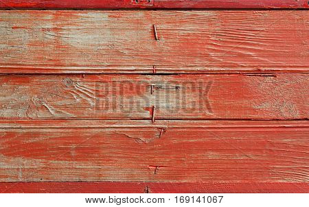Red Vintage Grunge Painted Wooden Plank Background
