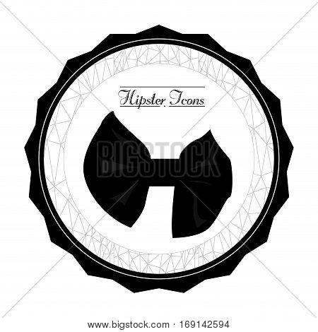 Isolated label with a necktie and text, Hipster Vector illustration