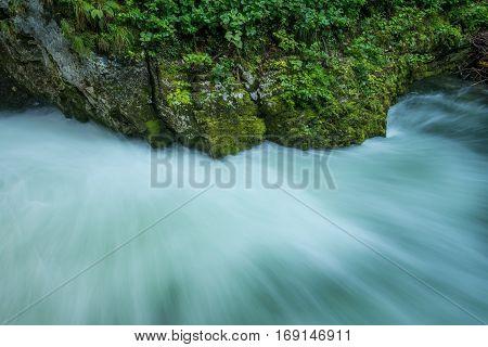Scenic Vintgar gorge in Slovenia near Bled