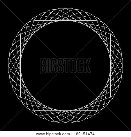 Circular Spiral Element. Abstract Geometric Circle Element.