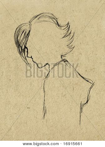 vector drawing on paperboard